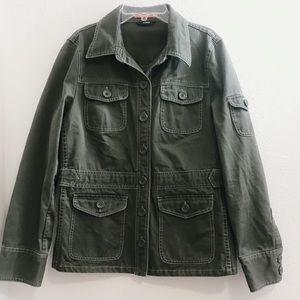 J Crew military green utility jacket small
